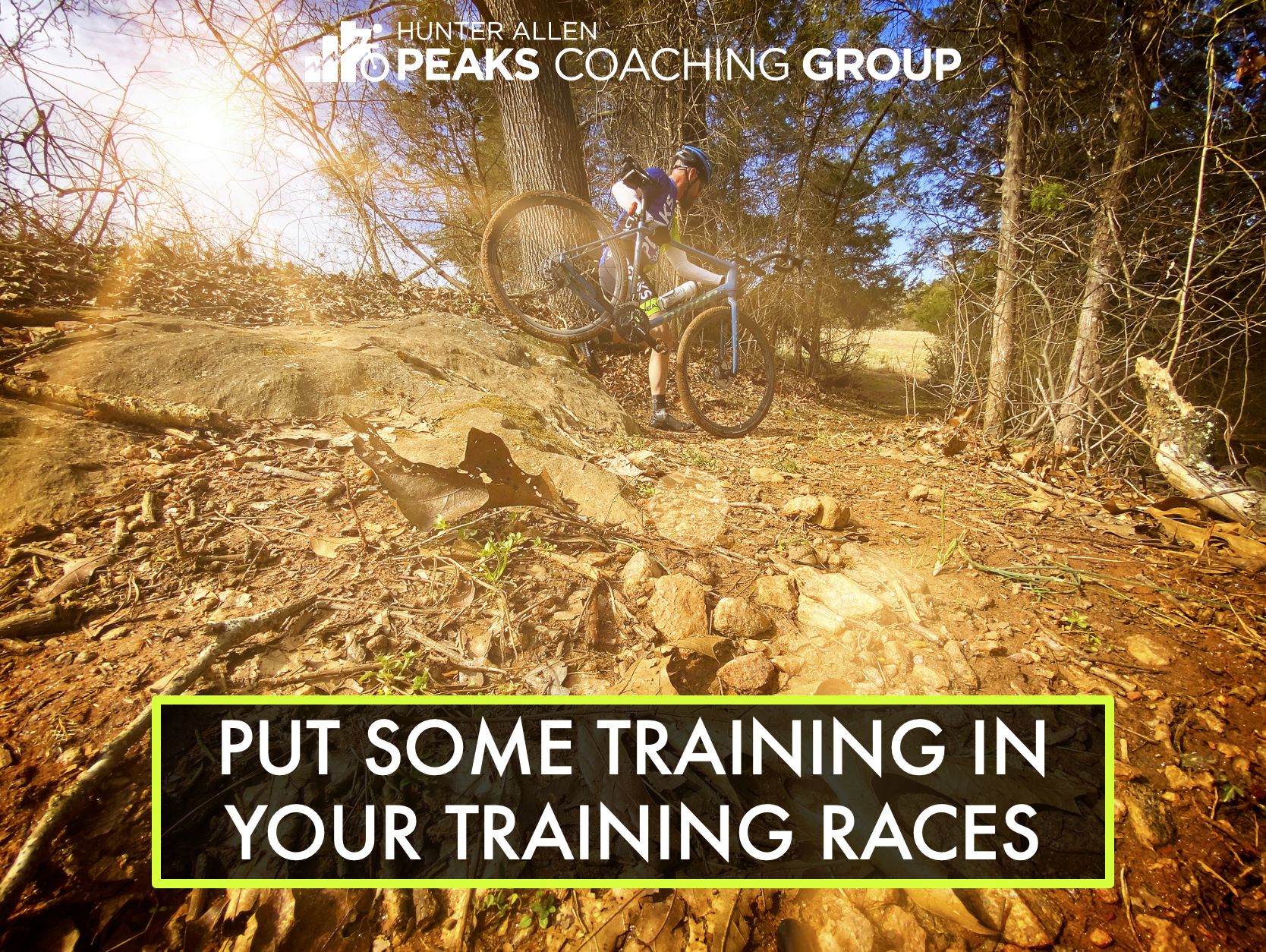 put some training in your training races